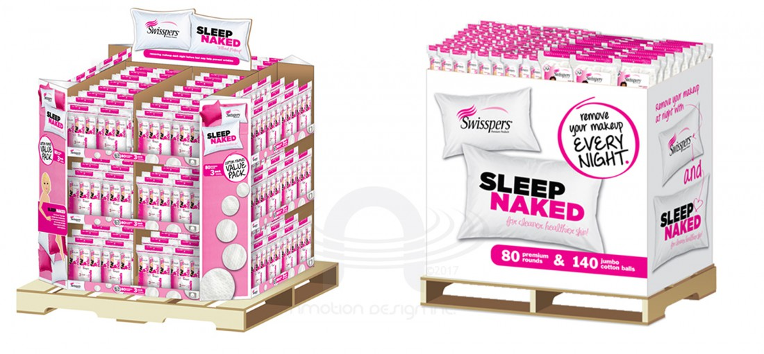 WALMART SWISSPERS SLEEP NAKED DISPLAYS